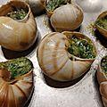 Escargots légèrement beurrés