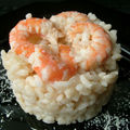 Risotto aux crevettes marines