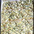 P'tites lasagnes roulées duo de courgettes et ricotta