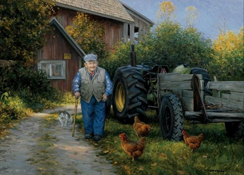 Peintre du monde rural Robert Duncan Les mallettes de Mijane