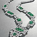 An art deco emerald and diamond sautoir, by cartier, circa 1926, previously owned by hrh princess faiza of egypt