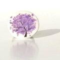 bague fimo arbre violet face