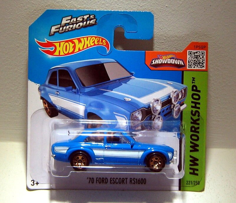 Ford escort RS 1600 de 1970 (Hotwheels 2015)