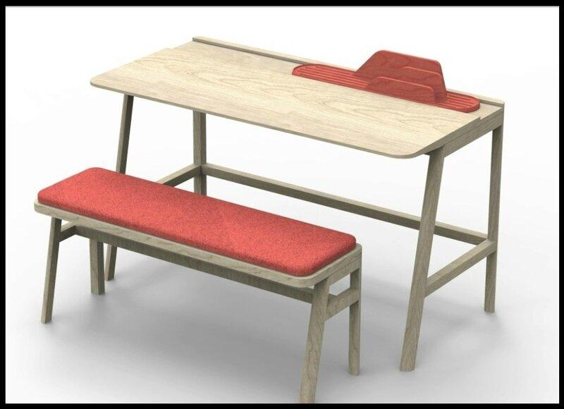 bureau banc chambre d enfant vessel mathy by bols. Black Bedroom Furniture Sets. Home Design Ideas