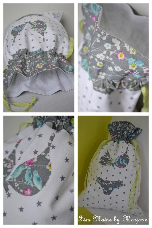 Pochon lingerie Fées Mains by Marjorie