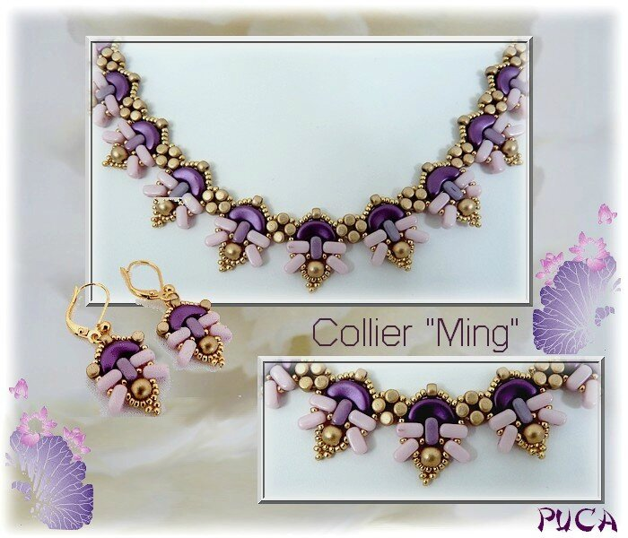 Planche Collier Ming Pink