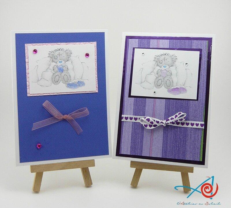 Cartes Linoa et Sarah sur chevalet (Copier)