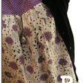 Tunique r à fleurs violettes