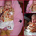 Le petit modèle porte enfin ces jolis habits !