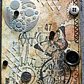 Art journal, lettre b/steampunk