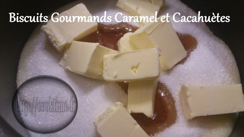 Biscuits Gourmands Caramel et cacahuètes au Thermomix 3