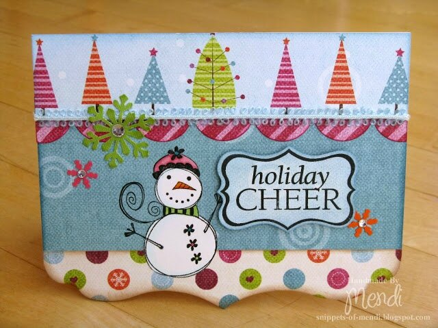 Holiday Snowman Shaped Card #1