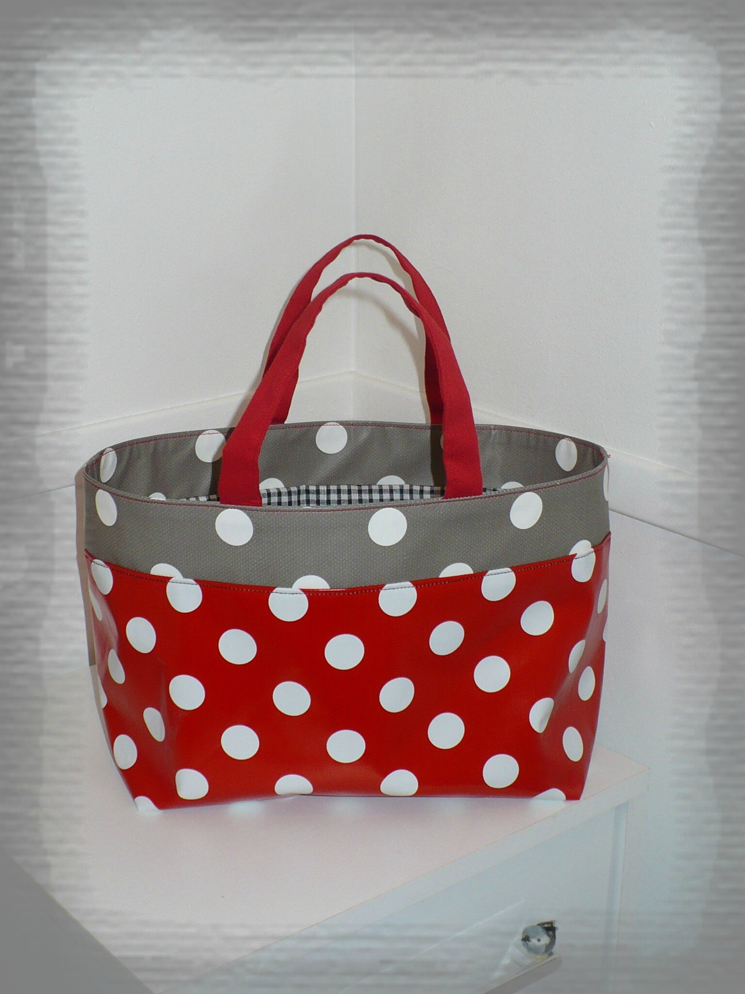 Pitit lunch bag ma pitite couture - Sac en toile ciree ...