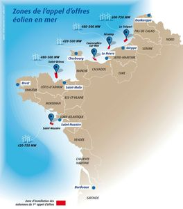 parcs oliens appel offre France site offshore