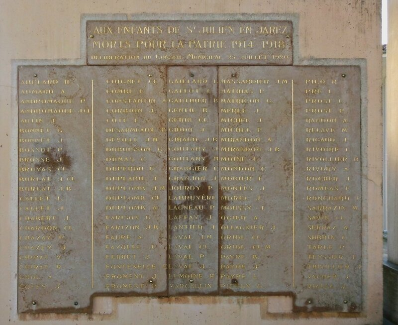 Monument aux morts St-Julien 28 mars 2014 (1914-1918)