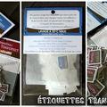 Étiquettes transfert