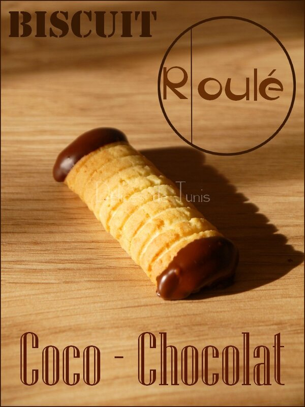 Biscuits roulés coco-chocolat 1