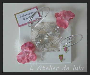porte alliances orchidee et plumes
