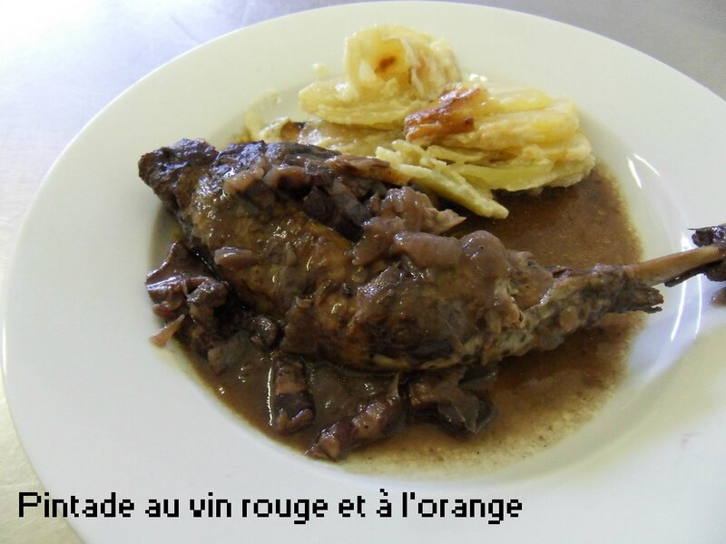 pintade au vin rouge et à l'orange1