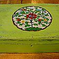 boite peinte d'inspiration asiatique