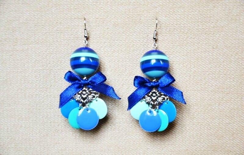 BO perle multi bleue