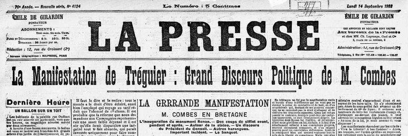 La presse 14 09 1903
