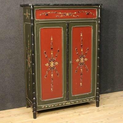armoire neerlandaise peinte main jpg