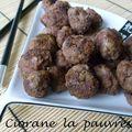Boulettes de viande au wakamé