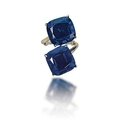 A two cushion-shaped sapphires 'toi et moi' ring