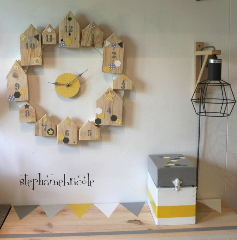 Diy une horloge bois maison d co encore scandinave st phanie bricole - Diy decoration maison ...