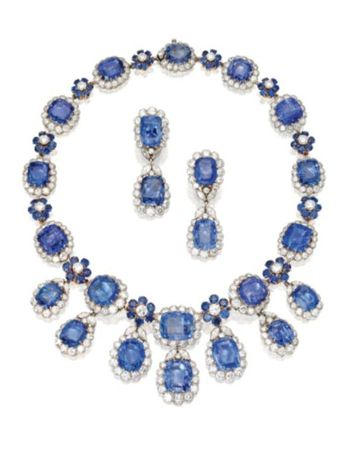 PLATINUM__18_KARAT_GOLD__SAPPHIRE_AND_DIAMOND_NECKLACE_AND