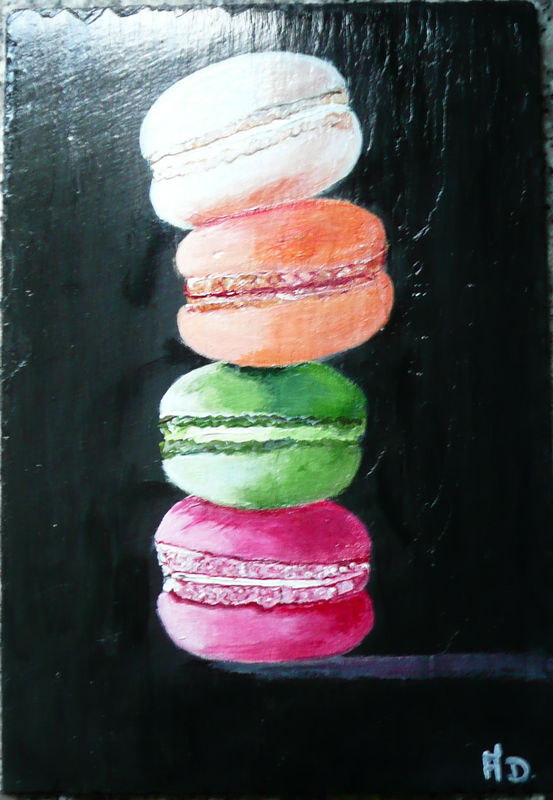 macarons sur ardoise photo de 7 peinture sur ardoise l 39 atelier de melle. Black Bedroom Furniture Sets. Home Design Ideas