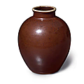 An iron-rust-glazed ovoid jar, china, qing dynasty, 18th century