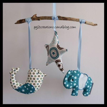 mobile oiseau etoile elephant