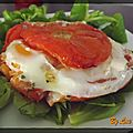 Tomate farcie  l'oeuf