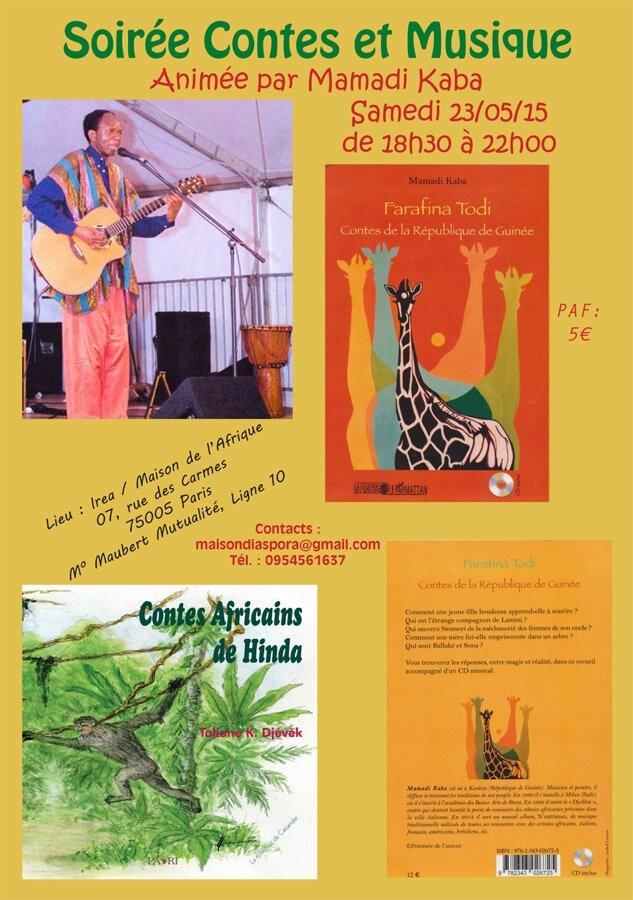 Soir e conte et musique maison de l 39 afrique for Angelina maison de l afrique