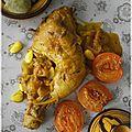 Tajine aux abricots rôtis et amandes fraîches