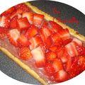 Tarte 100% fraise avec une lichette de rose