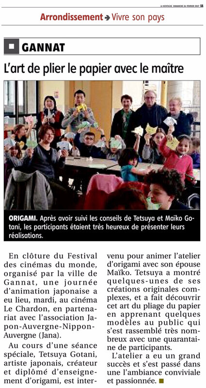 article journal La Montagne Gannat 26022017