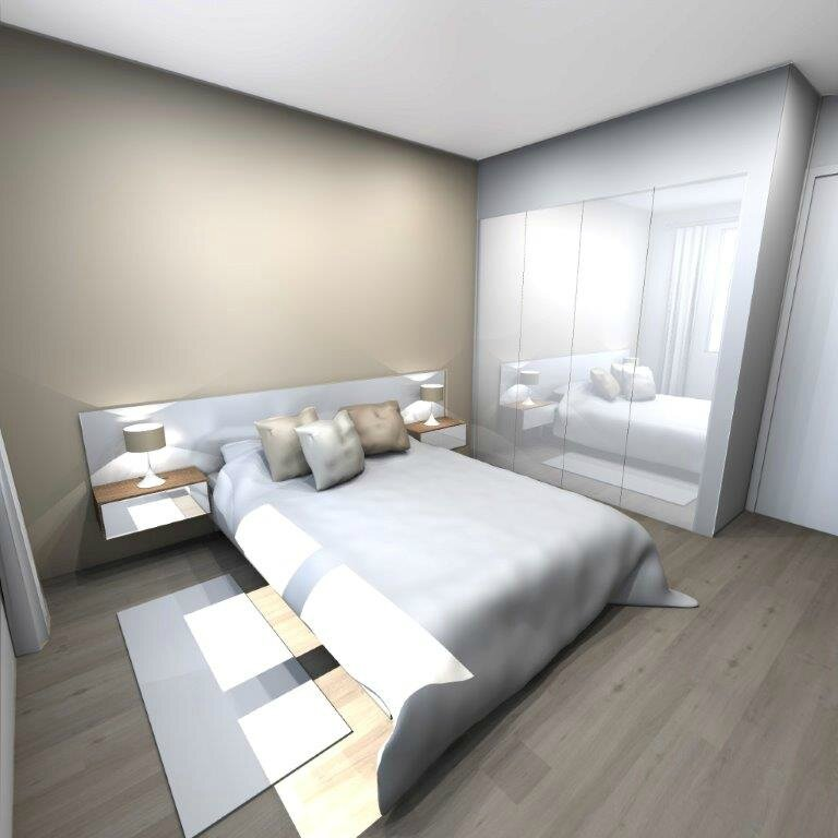 Appartement marseille chambre projet 3d stinside for Deco chambre parents zen