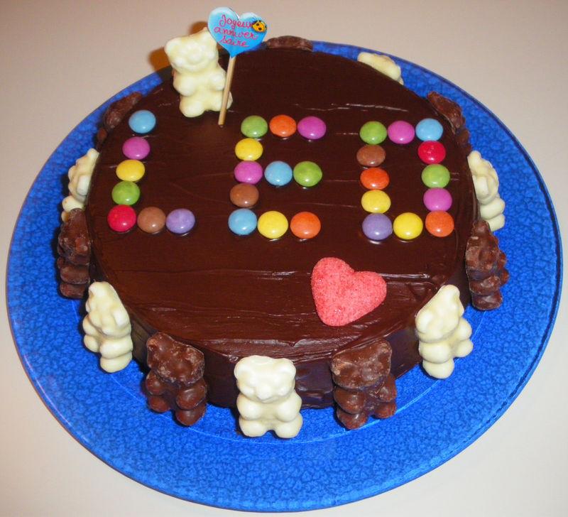 le gâteau d'anniversaire de léo - fées mainsmarjorie