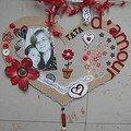 Cadre coeur tata d'amour