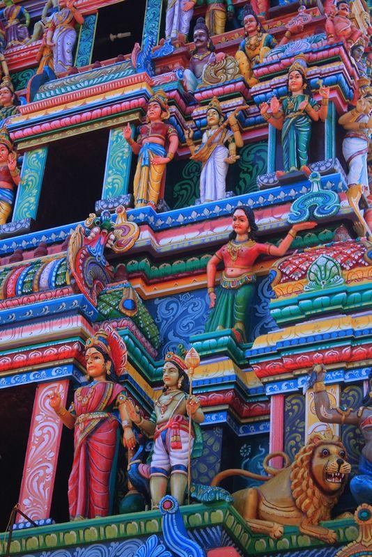 Détail temple près d'Auroville