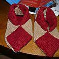 chaussons 8 carrés taille 37