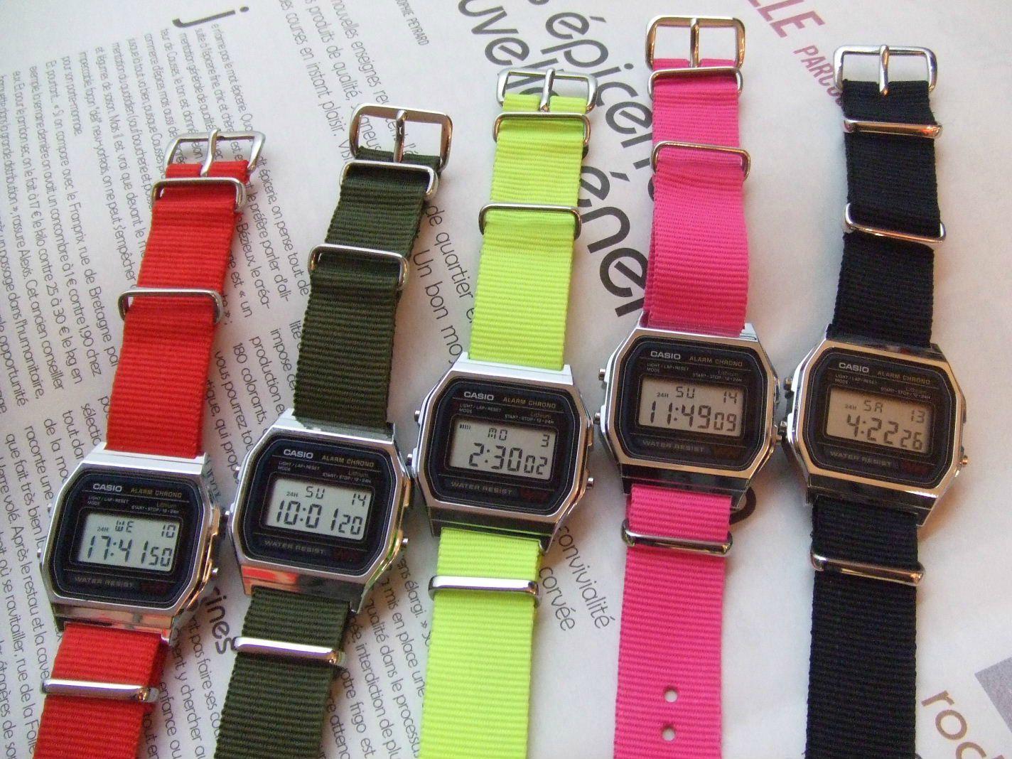 bracelet de montre casio noir