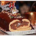 Bûche de noël à la crème pâtissière au chocolat