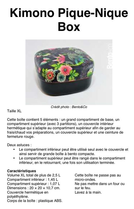 Kimono Pique Nique Box: fiche détaillée