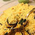 Gratin de courgettes au boursin et crumble parmesan