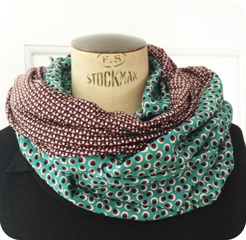 Snood été vintage graphic 1