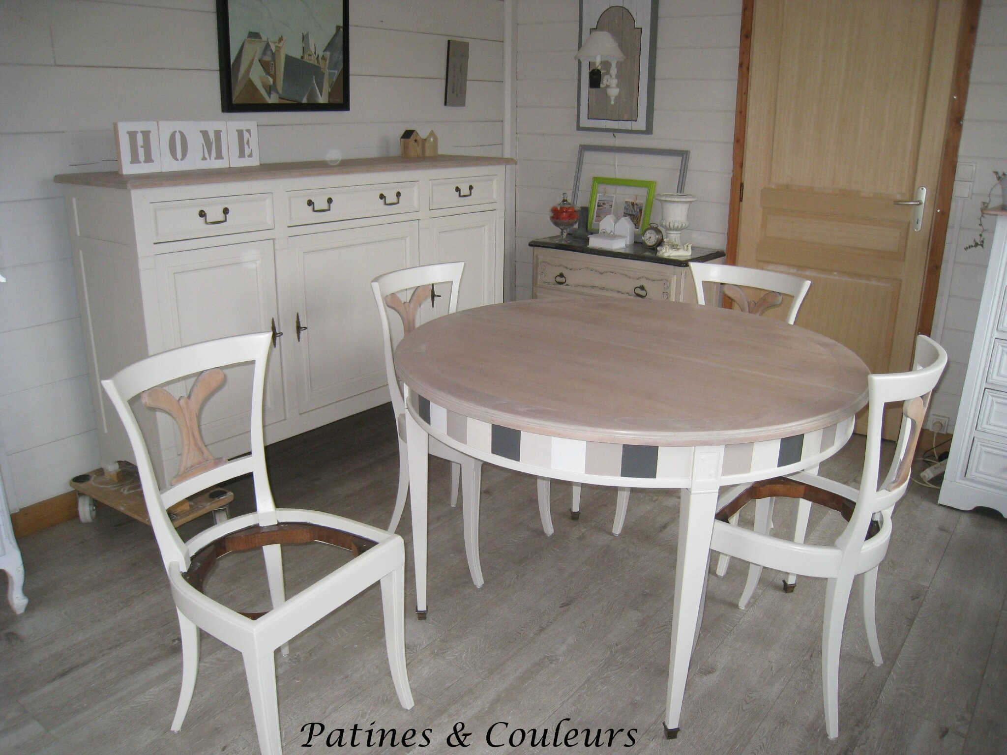 une salle manger en merisier relook e patines couleurs. Black Bedroom Furniture Sets. Home Design Ideas